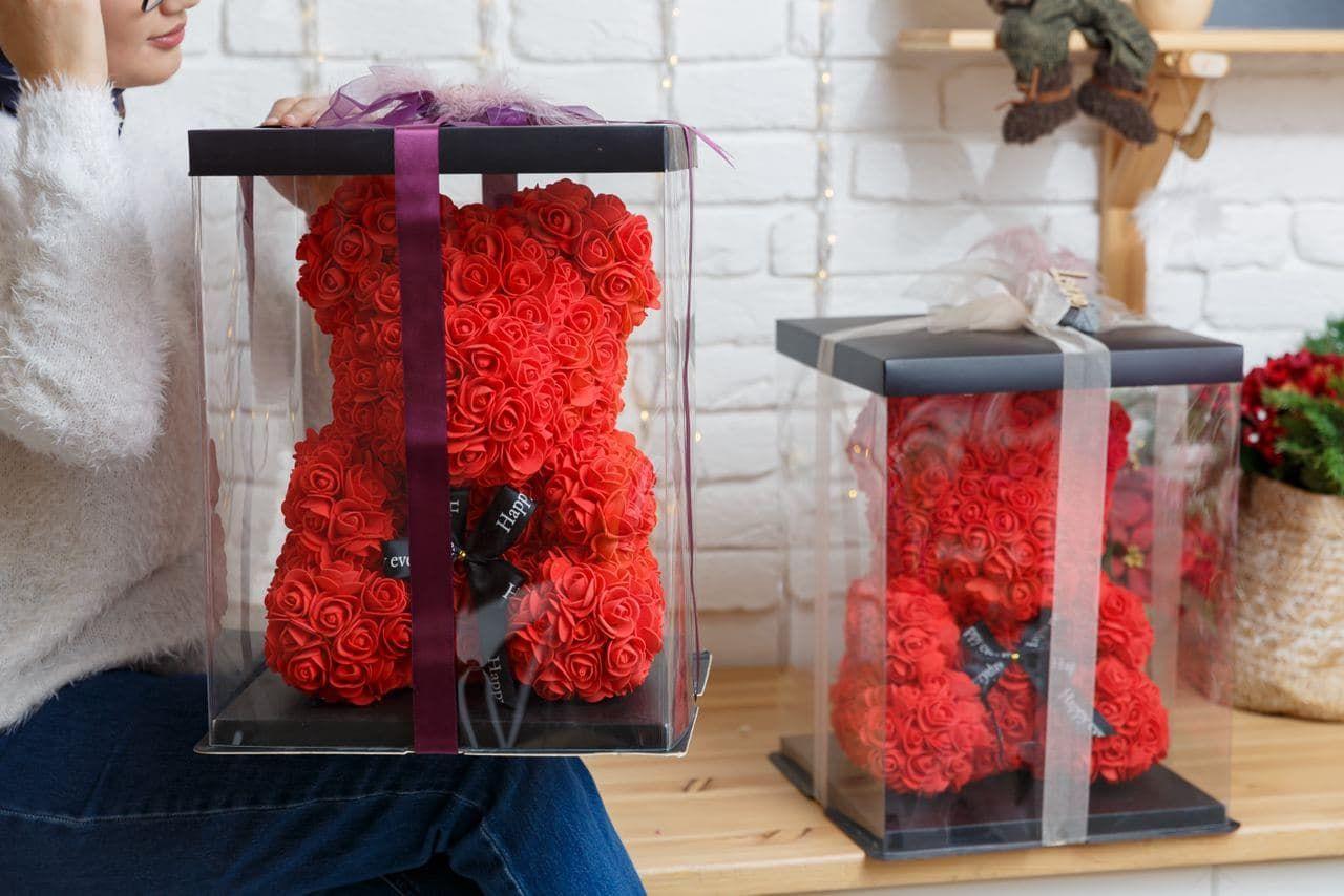 мишка  3D (розы)
