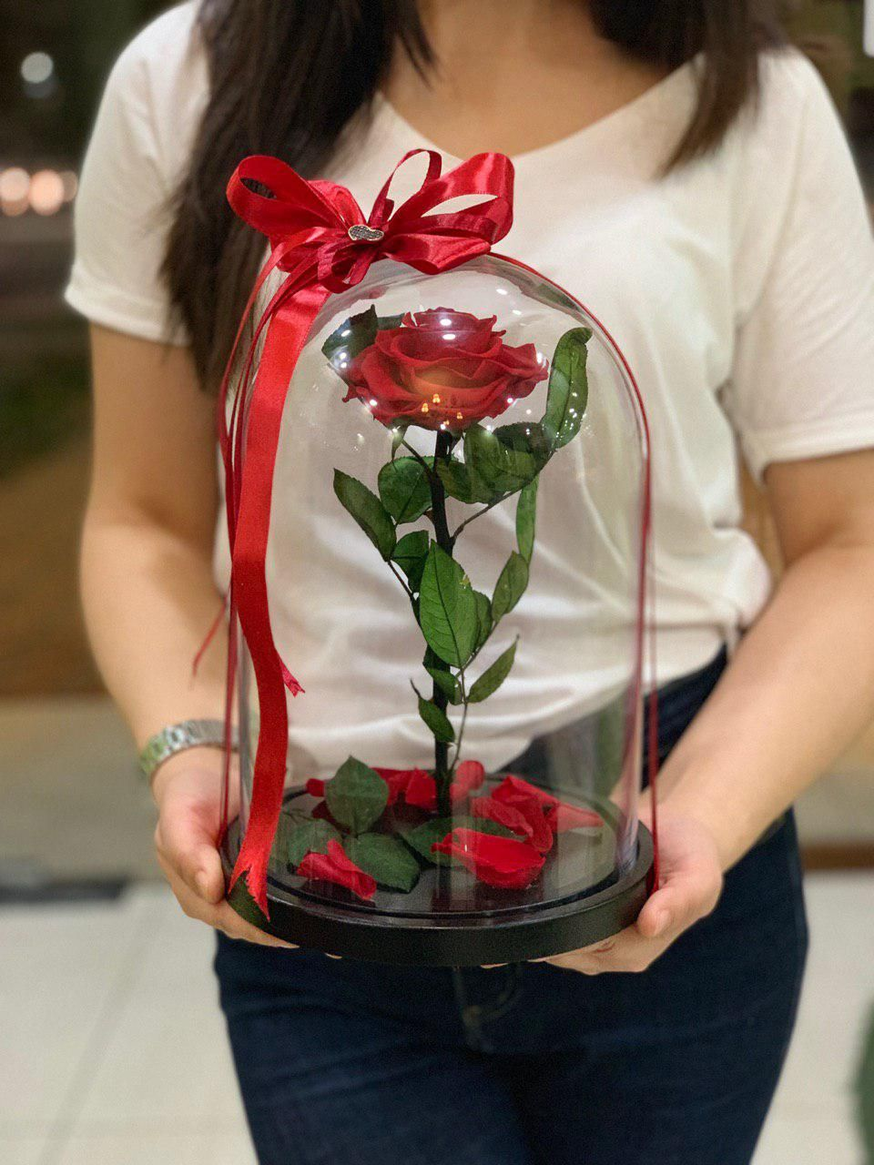 Роза в колбе XL